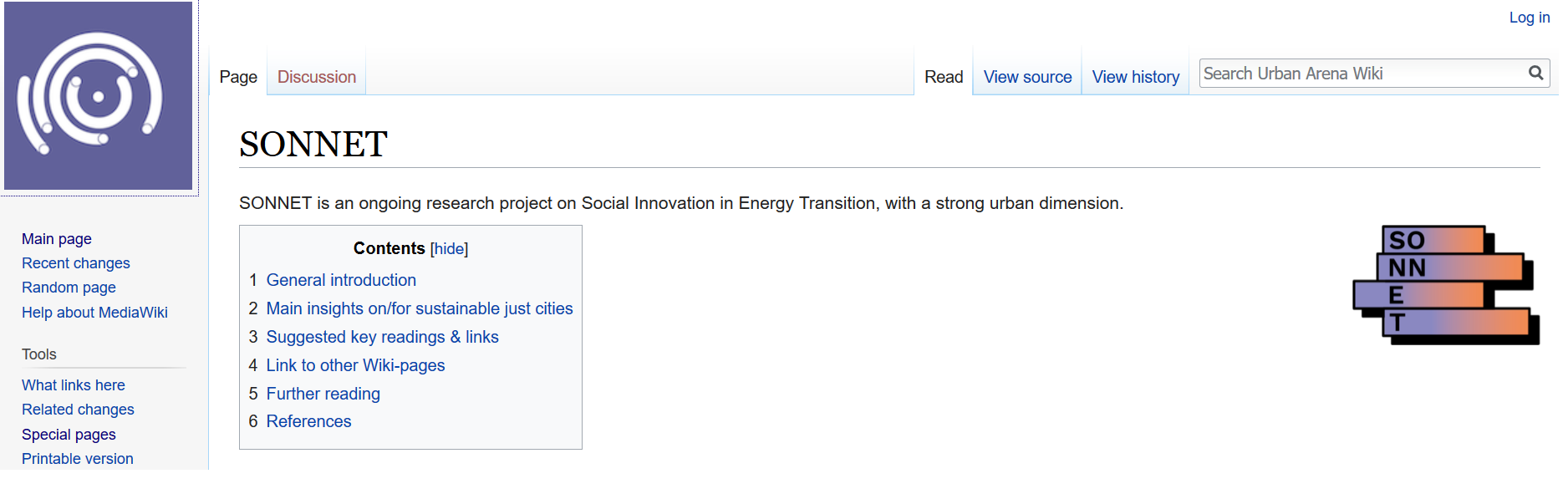 SONNET Is Featured As Part Of The Wiki On Sustainable Just Cities