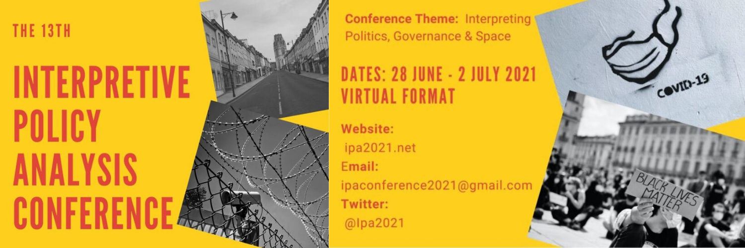 Call For Papers Open: Contribute To The Interpretive Policy Analysis Conference 2021 Alongside SONNET